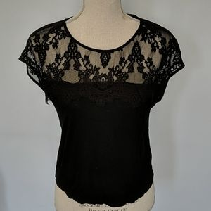 ⭐4/$25⭐ Forever 21 Black Lace Top, Small